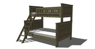 diy twin bunk beds. Perfect Twin Free Woodworking Plans To Build An RH Inspired Kenwood Twin Over Full Bunk   The Design Confidential In Diy Beds