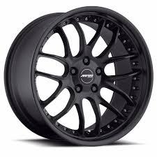 18x85 18x95 MRR GT7 Staggered Deep lip Wheels Matte Black Rims ...