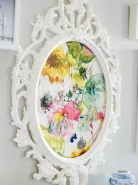 diy painted mirror frame. Diy-jewelry-storage-ideas-white-painted-mirror-frame- Diy Painted Mirror Frame