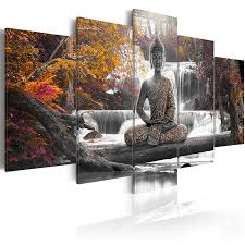 large buddha canvas wall art