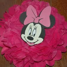 Minnie Mouse Baby Shower Decorations Minnie Mouse Disney Tissue Pom Pom Birthday Shower Decoration