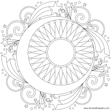 Small Picture Free Printable Mandala Coloring Pages Large transparent PNG