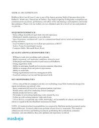 Medical Esthetician Resume Examples Resume For Esthetician Resume