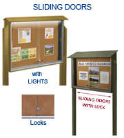 Display Boards Free Standing Free Standing Outdoor Enclosed Bulletin Boards with Lockable Doors 89