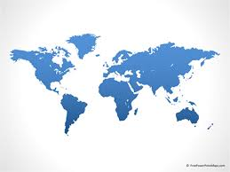 Map Of The World For Powerpoint Powerpoint Map Of World Blue Free Vector Maps