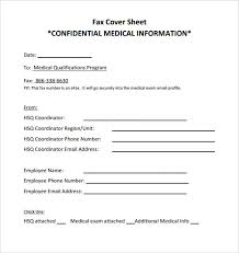 fax cover sheet medical 9 confidential fax cover sheet templates doc pdf free