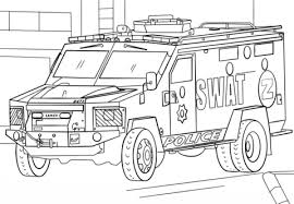 Small Picture SWAT Truck coloring page Free Printable Coloring Pages