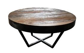 round rustic reclaimed teak coffee table with metal frame metal round coffee table small round wooden