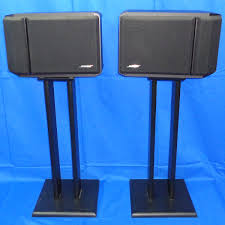 bose 201 series iv. 1996 bose 201 series iv direct reflecting speakers right left black floor stands iv g