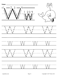 The most important aspect of our educational website is usability. Printable Letter W Tracing Worksheet Supplyme