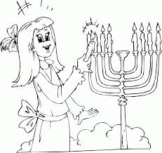 Small Picture girl lighting menorah coloring page coloringcom