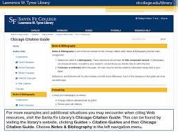 Chicago Notes Bibliography Citing Web Resources
