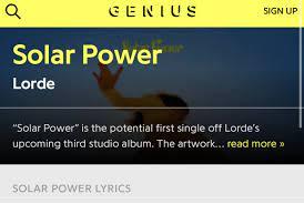 Lorde Charts (@LordeOnChart)