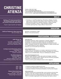 Architecture Resume Objectives Skills And Qualifications Examples