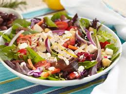 garden salad with chicken. Contemporary With Greek Chicken Garden Vegetable And Spring Mix Salad Recipe  Food Network For With Chicken D
