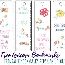 With 15 different designs, there are options for little and big kids alike. Printable Unicorn Bookmarks Kids Can Color Views From A Step Stool