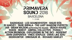 Primavera sound is one of barcelona's most successful music event stories. Primavera Sound 2016 Data Transmission