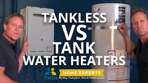 Hybrid Water Heater Vs Tankless Tankless Vs Tank Water Heater Pros And Cons Youtube