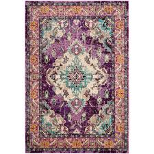 safavieh monaco violet light blue 9 ft x 12 ft area rug