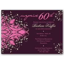 60 birthday invitations andromeda pink surprise 60th birthday invitations paperstyle