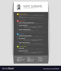 Cv Resume Template Vector Image On Vectorstock