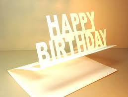 Elegant Birthday Pop Up Card By Ruth Springer Design