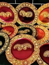 Mehndi Tray Decoration Mehndi thaal mehndi candles mehndi plates mehndi decoration eBay 89