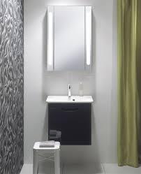 Aluminium Bathroom Cabinets Bauhaus Aluminium 550 X 800mm Single Door Mirrored Cabinet