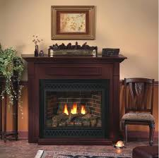 propane gas fireplaces ventless direct vent fireplace trimmed in black arch louvers and outer frame in