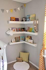 rain gutter shelves nursery book corner image only