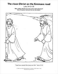 Small Picture A Living Hope Coloring Page Emmaus Road Downloadable