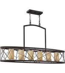 fredrick ramond fr41616orb nest 6 light 48 inch oil rubbed bronze linear chandelier ceiling light in distressed amber etched downlight
