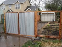 charming diy corrugated metal fence plans