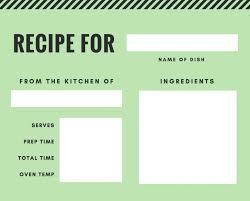 Recipe Template Google Docs Download Recipe Templates Rome Fontanacountryinn Com