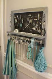 Rustic Weathered Grey Scroll Trim Series Wall Mounted Jewelry Organizer  with Bracelet Bar, Wall Organizer, Jewelry Display, Necklace Holder (Diy  Necklace ...