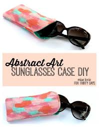 abstract art sunglasses case