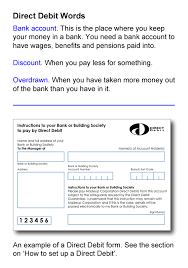Direct Debit Form Keep an Eye on Your Money - Direct Debits - Talking Media ...