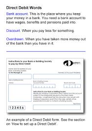 Direct Debit Form Keep an Eye on Your Money - Direct Debits - Talking Media ...