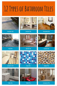 bathroom tile types. Simple Chart Setting Out 12 Different Types Of Bathroom Tiles. Tile E