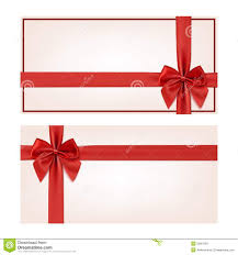 gift voucher template red ribbon and a bow stock illustration gift voucher template red ribbon and a bow