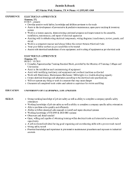 Electrician Apprentice Resume Samples Electrician Apprentice Resume Samples Velvet Jobs