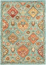 teal and orange rug market area rug teal red orange rug
