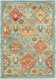 teal and orange rug market area rug teal red orange rug