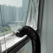 Hause 2 Pcs Durable Einstellbare 19 M Klimaanlage Fenster Rutsche Platte Auspuff Schlauch Rohr Connector Kit Für Klimaanlage