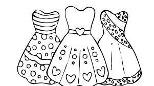 Barbie Colouring Pages Fashion Dresses Coloring Dress View Designer