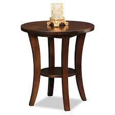 amazoncom leick furniture boa collection solid wood round side
