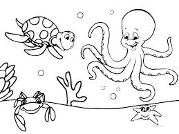 Ocean Coloring Sea Creatures Coloring Pages Sea Creatures Coloring