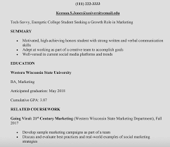 Sample Resume For Working Students With No Work Experience No Work Experience Resume Template College Resume Sample Monster 31