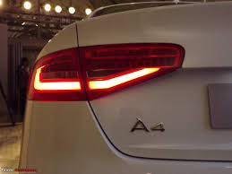 Audi A4 Back Lights 2012 Audi A4 Facelift Launched 27 3 38 0 Lakhs Ex Mh