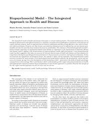 biopsychosocial model the integrated approach to health and  biopsychosocial model the integrated approach to health and disease pdf available